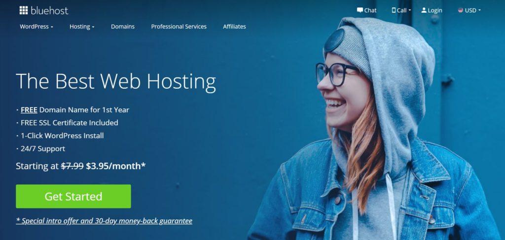 bluehost 主機平台